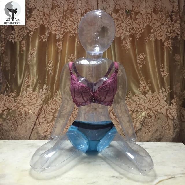 Кровать кунг-фу прозрачная секс-кукла для мужчин ПВХ Сидящая осанка Реалистичная пластиковая секс-кукла надувная взрослая кукла влагалище силиконовая игрушка
