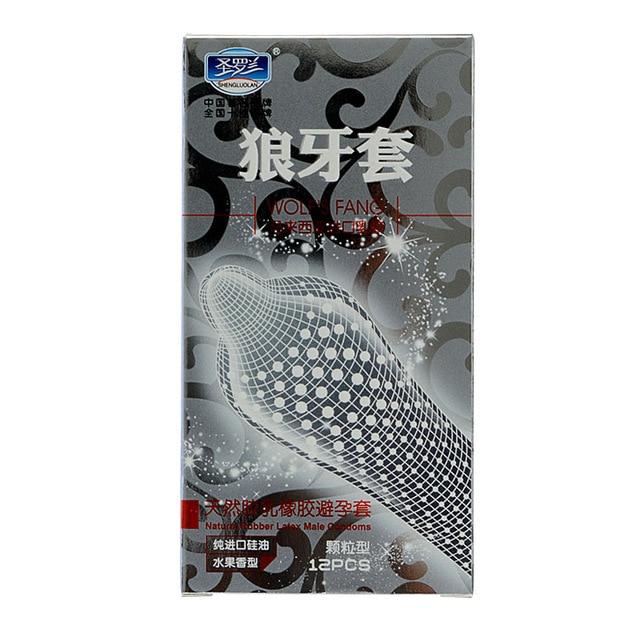 12 шт./лот большая частица с шипами пунктирная ребристые g-spot латексные презервативы для мужчин контрацепции презервативы секс-игрушки