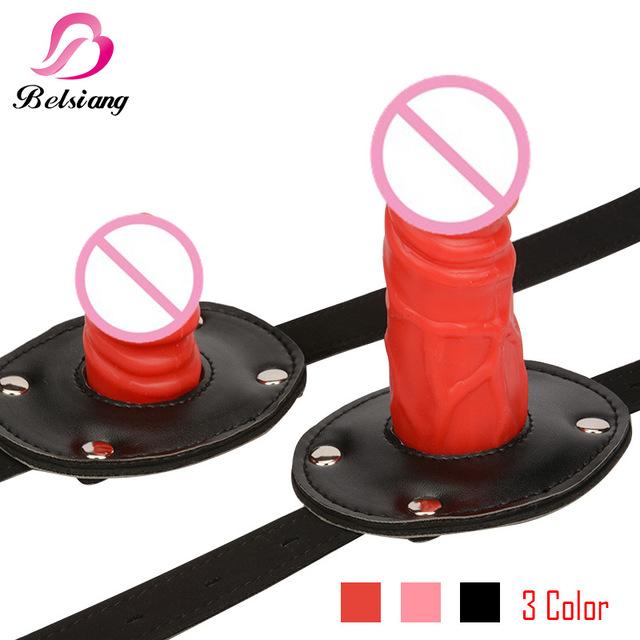 3 цвета пенис кляп фаллоимитатор открытый рот кляп кожа фетиш бдсм бондаж ограничения для взрослых секс-игрушки для пар товары