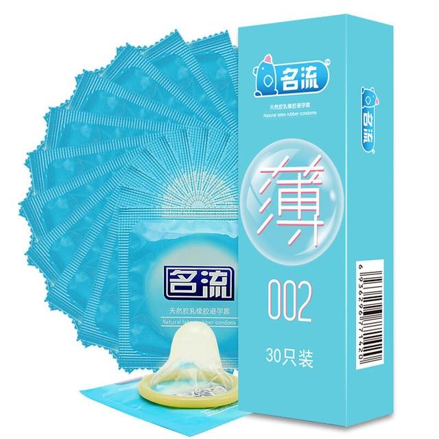 Новый 30 шт. секс товары Презерватив Ультра тонкий натуральный латекс презервативы для Для мужчин Секс-игрушки Секс Инструмент безопасная контрацепции презервативы PY742