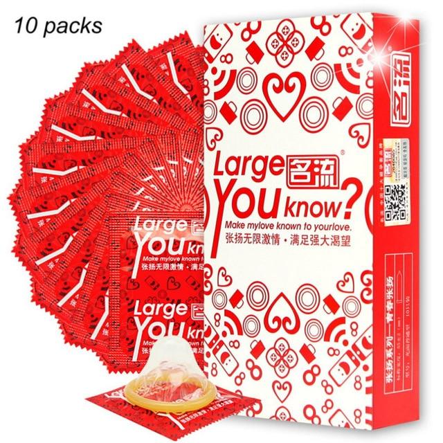 Шт. 10 шт. большой размер презервативы для большого член истинный человек плюс мм размер 55 мм Condones ультра безопасный член рукав натуральный латексный инструмент контрацепции