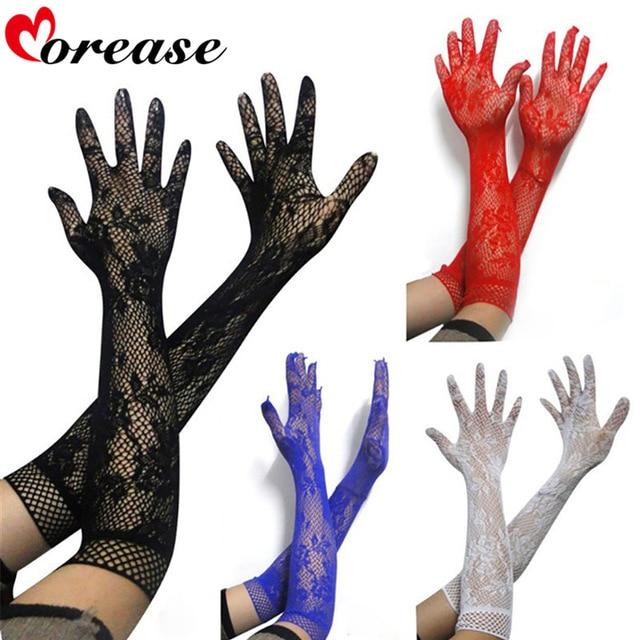 Morease взрослые игры сексуальный прозрачный кружевной эластичный Перчатки Long-sleeve mesh БДСМ эротический фетиш бондаж brinquedos sexuais