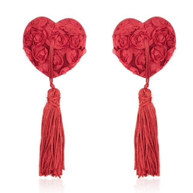 Romeonight сердце Форма Кружево пирожки Цветочные кисточкой Соски чехол для Для женщин, эротические сексуальные игры Игрушечные лошадки для взрослых Интимные товары