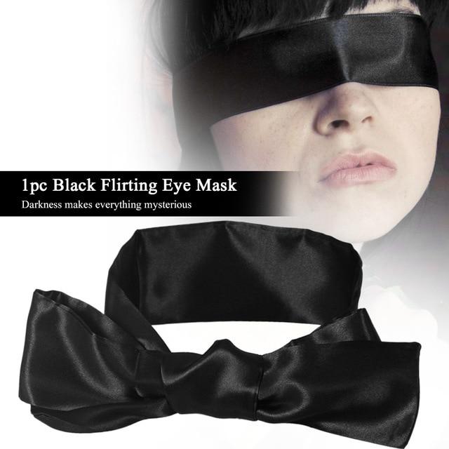 1 шт.. флирт маска для глаз черный бондаж шеи повязка на глаза, наглазник ограничитель глаз маска для взрослых игры эротические секс-игрушки для пар