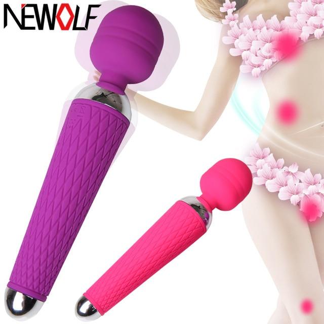 Мощный устные Клитор Вибраторы для Для женщин USB зарядка AV волшебная палочка Вибратор массажер для взрослых Секс-игрушки для женщины мастурбатор PY504