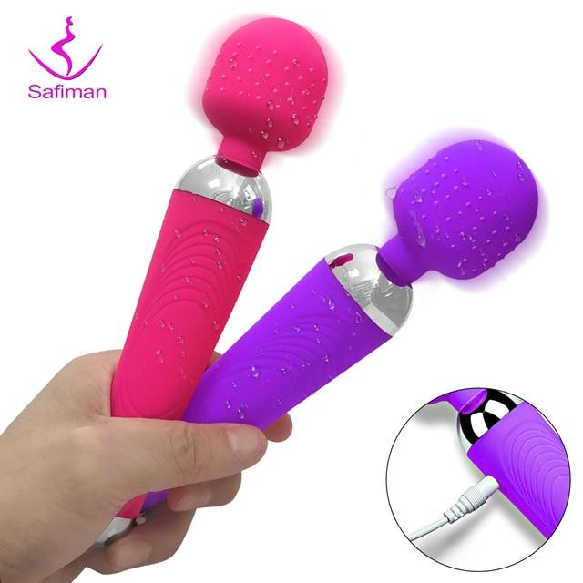 Мощный Волшебная палочка, вибратор секс-игрушки для женщин клитор стимулятор секс-магазин игрушки для взрослых G Spot вибрирующий дилдо для женщин