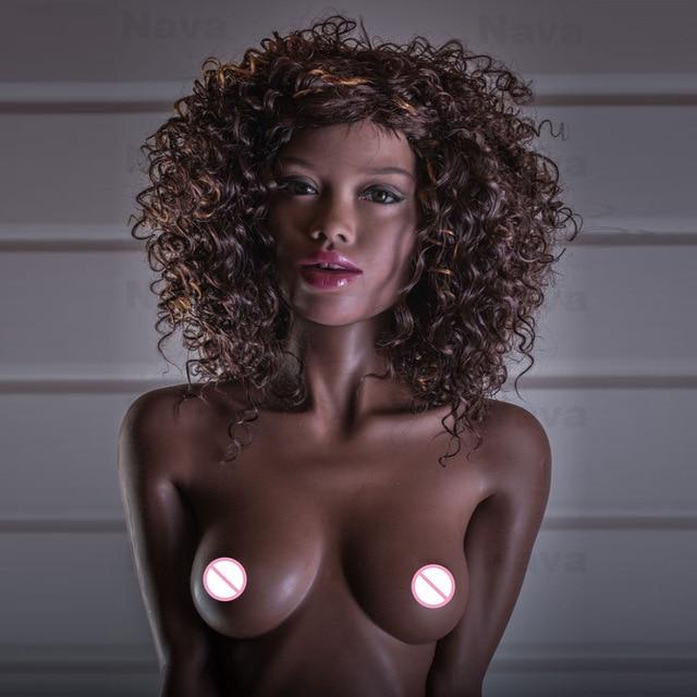 Настоящая секс-кукла с металлическим скелетом, черная кожа 155 см полный размер Реалистичная чашка B маленькая грудь силиконовая любовь куклы робот для мужчин