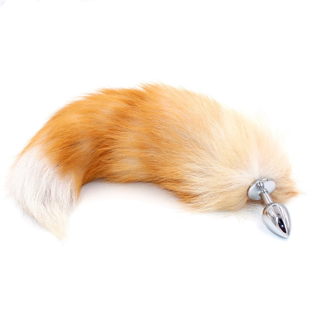SAIXS лисий хвост анальный плагин с большой настоящий кристалл лиса хвосты металла Анальная пробка интимные игрушки для пар эротические хвост для косплея Прямая доставка