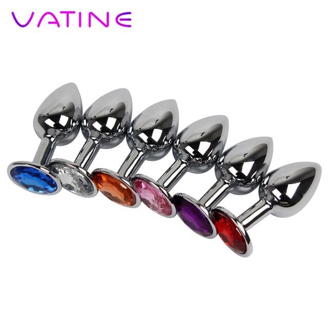 VATINE Diamond Секс игрушки для женщин мужчин гей нержавеющая сталь металл Анальная пробка из бисера IKOKY взрослы