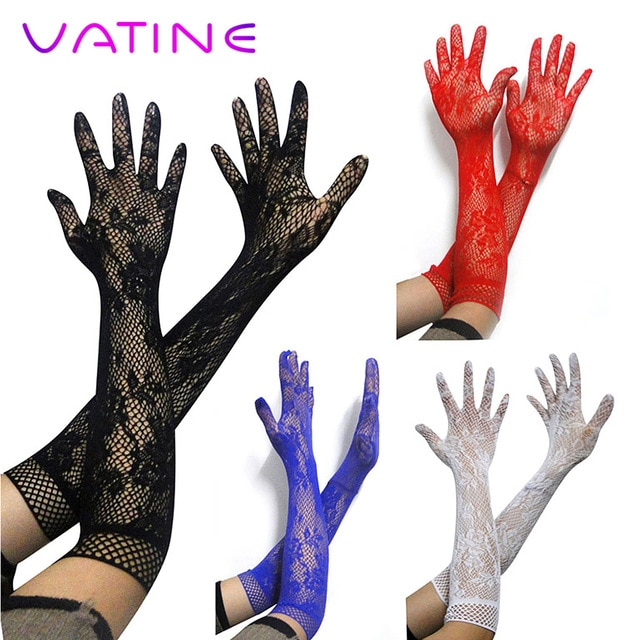VATINE длинные эластичные пикантные рукав интимные игрушки для женщин девочек эротические игрушки SM бандаж для вечерние взрослые игры секс кружевная перчатка