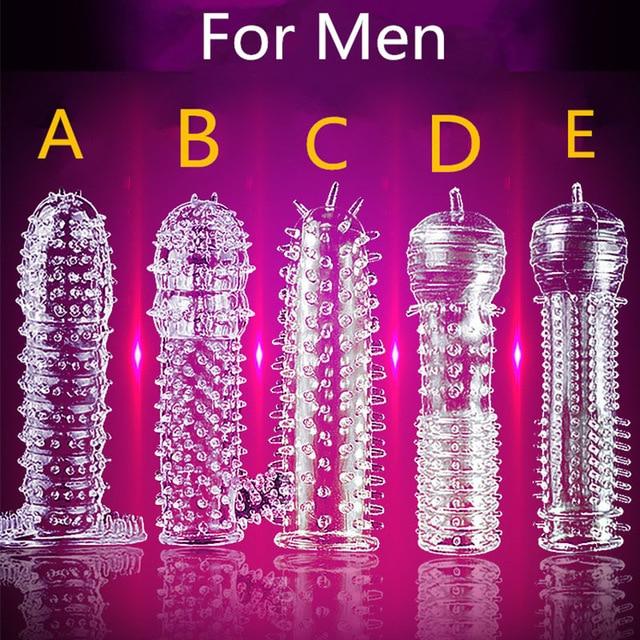 5 моделей задержка кристалл пенис рукав текстурированное расширение многоразовый пенис для пары кольцо товары взрослые секс-игрушки для мужчин