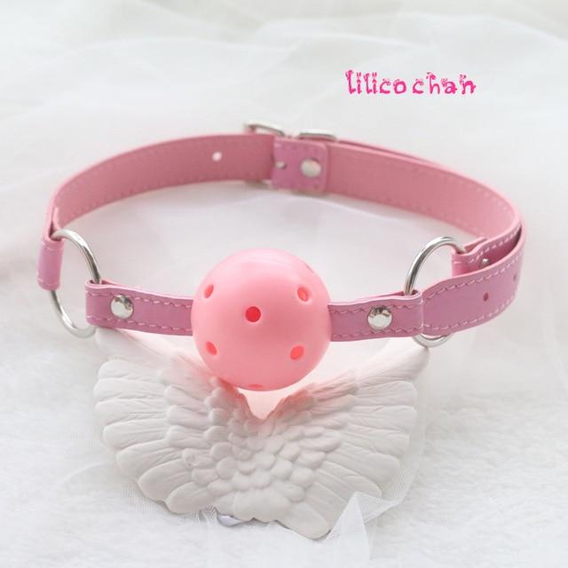 Кожаный кляп для рта мяч подвесной ограничитель эротические игры оральная фиксация БДСМ-костюм секс-игрушки для пар интимные товары