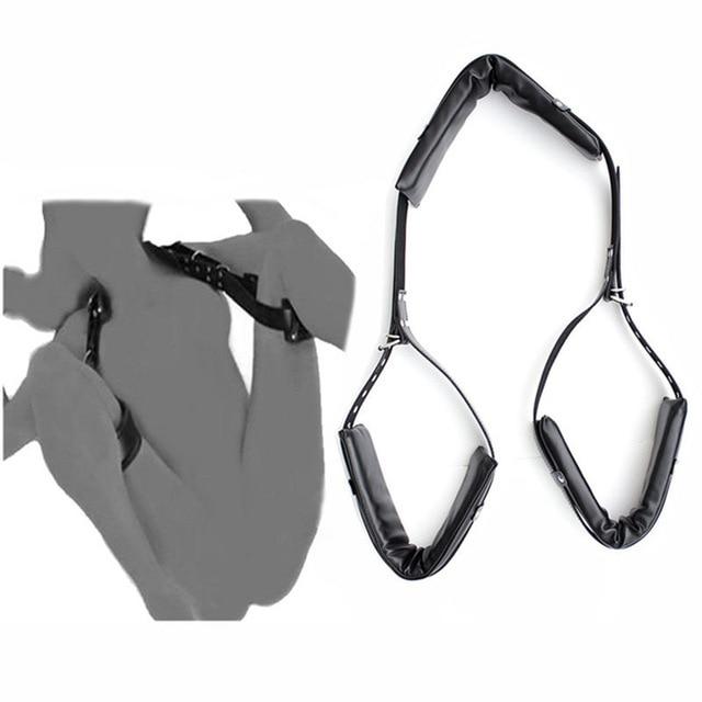Кожа Губка БДСМ-бондаж открытая нога для взрослых SM игра ограничитель веревки секс качели для женщин интимные игрушки для взрослых пар