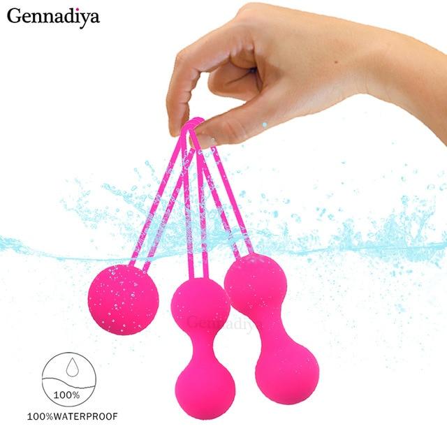 Медицинский силиконовый вибратор, шарики Кегеля, функциональное упражнение, Утягивающее устройство, шарики, безопасный мяч, Бен Ва для женщин, вагинальный Массажер