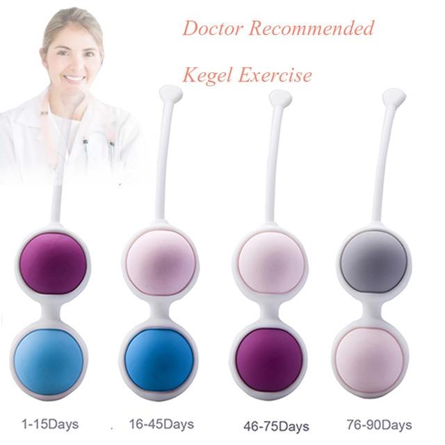Секс-игрушки для женщин, медицинские вагинальные шарики, упражнения Кегеля, женские силиконовые шарики для Кегеля, водонепроницаемые, 4 шарика, шарик для фитнеса