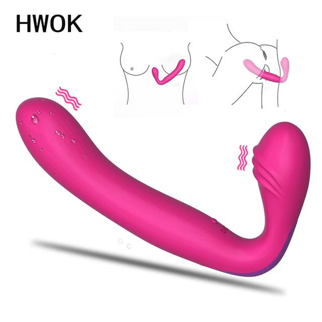 Страпон фаллоимитатор вибраторы для женщин двойной мотор массаж анальный клитор вагинальный G spot гей взрослый эротический интимный сексуальный игрушка для пары