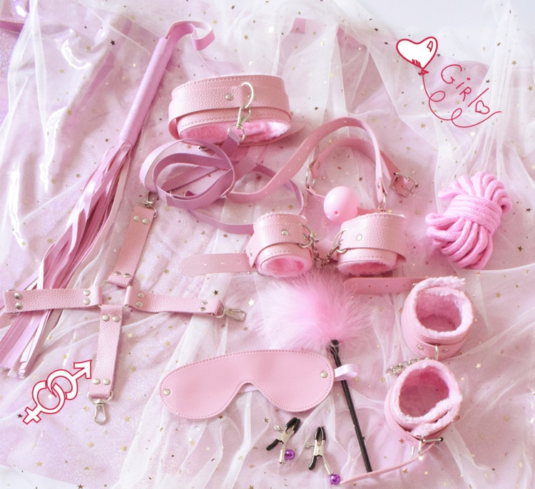 10 шт. секс игрушки экзотические аксессуары эротический БДСМ Связывание набор наручники зажимы для сосков плетёная веревка секс товары для пары женщин