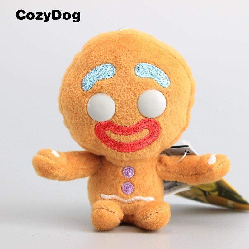 11 см аниме Шрек; Имбирный пряник для мужчин плюшевый брелок Мини Подвеска Bigheadz мягкая кукла игрушки для детей подарок