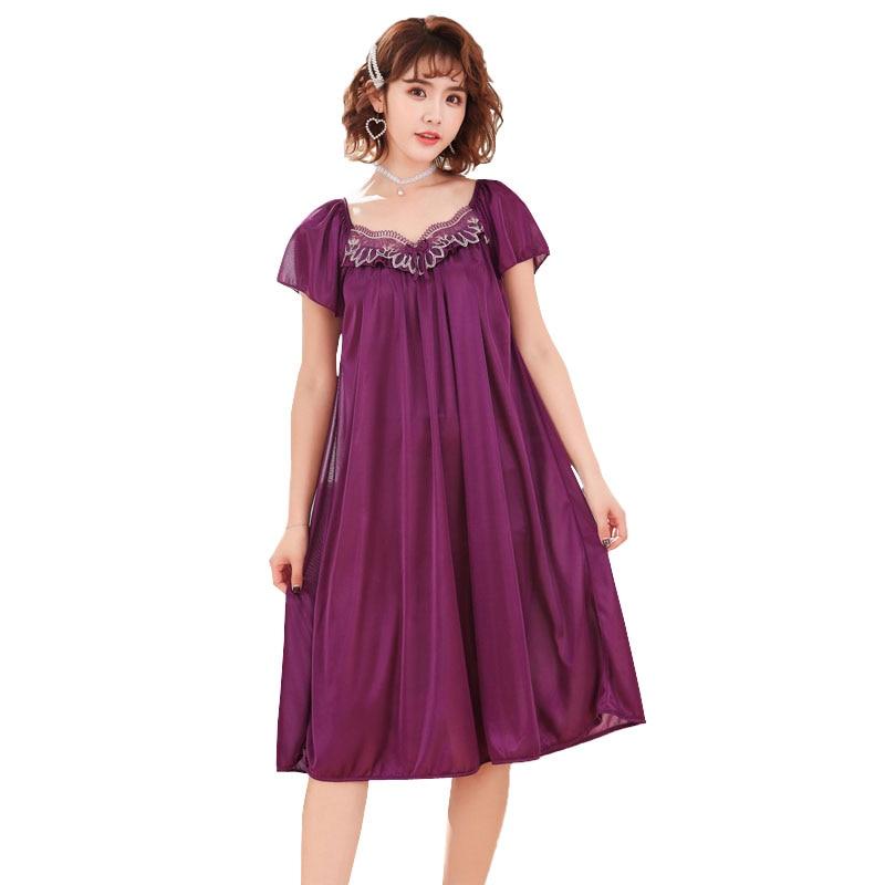 8 стилей, шелковая атласная пижама, женская сексуальная ночная рубашка, плюс размер, летняя ночная рубашка, гладкая ночная рубашка для девочек, ночная рубашка, юбка
