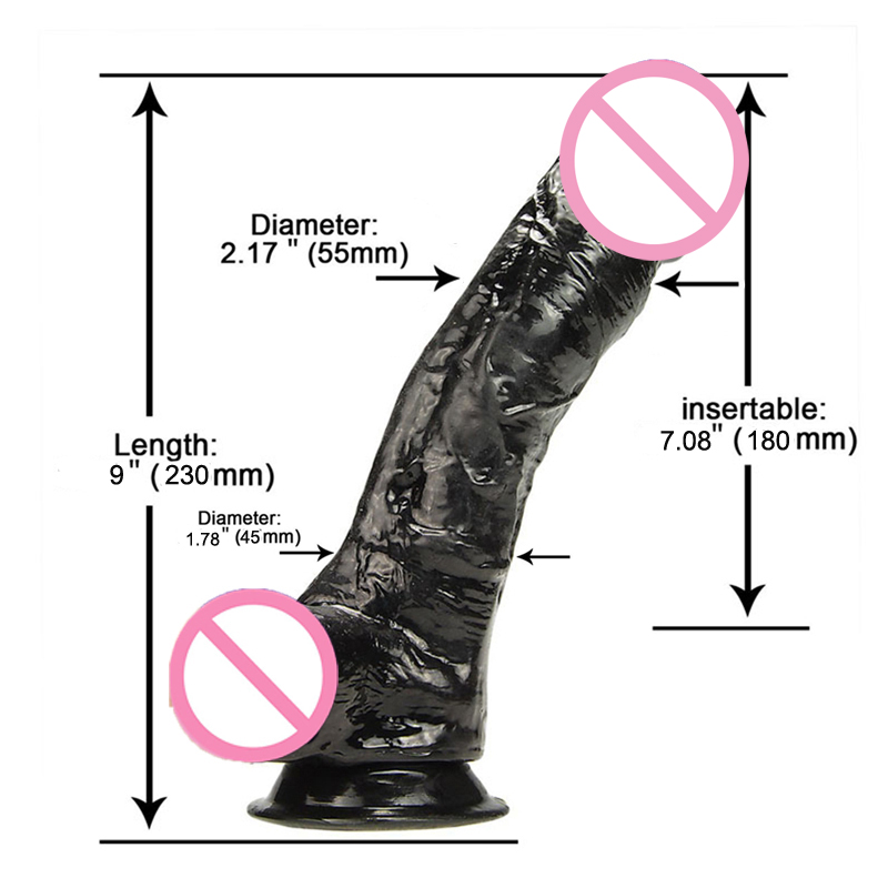 9 дюймов Огромный черный фалоимитатор реалистичные взрослые секс игрушки для женщин большой Фаллус с присоской пенис поддельный член женская мастурбация