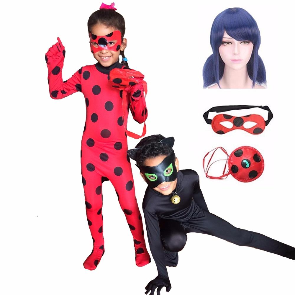 Детский карнавальный костюм Fantasia для взрослых и детей, черный костюм кошки Нуара, полный комплект, костюм на Хеллоуин, костюм леди, спандекс, маринетт, жук, зентай, костюм
