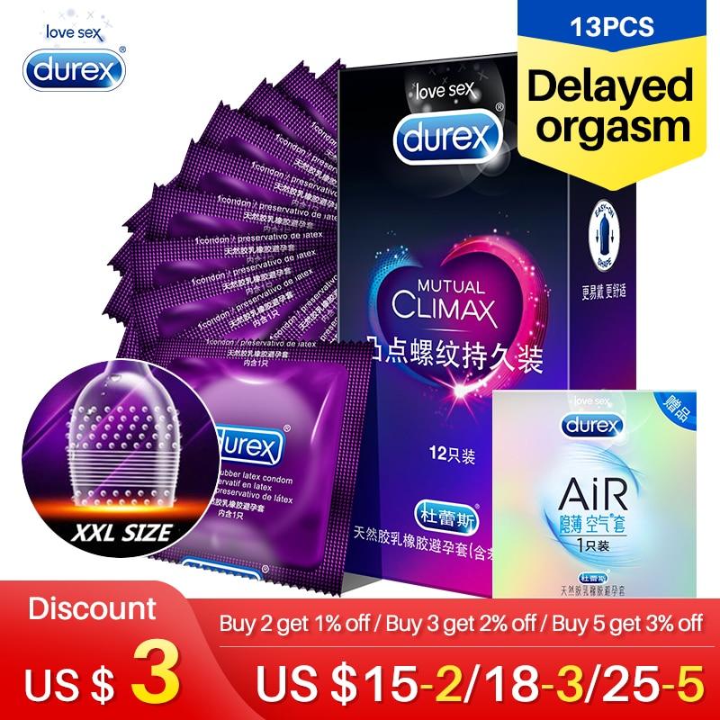 Durex специальные презервативы обоюдный Climax XXL безопасный ребристый презерватив в горошек для мужчин длительный пенис рукав лубрикант для секса