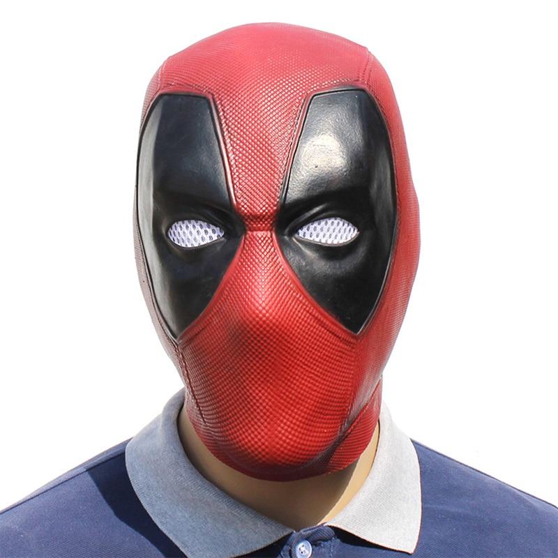 Фильм Дэдпул Косплей Маска латексный шлем на всю голову Дэдпул Уэйд Уинстон Уилсон карнавальный костюм маски реквизит