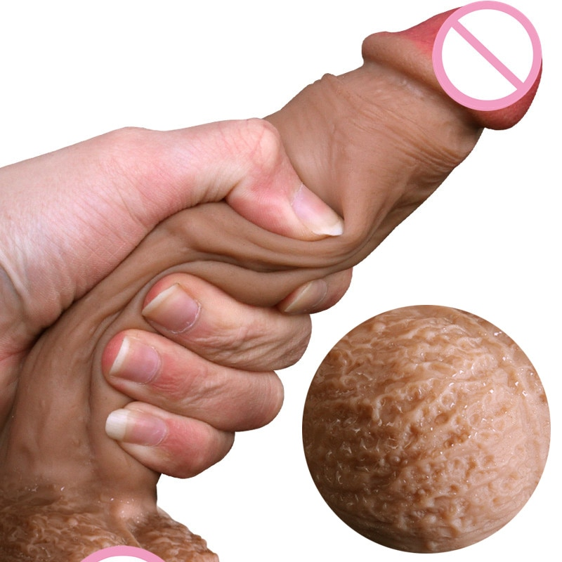 Настоящий силиконовый мягкий фаллоимитатор на присоске реалистичный пенис большой член секс игрушки для женщин Товары страпон женские фаллоимитаторы