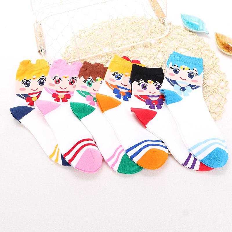 Новый мультфильм Сейлор Мун Косплей Аксессуары Tsukino Усаги женские Девушки лодыжки носки Kawaii хлопковые носки чулки рождественские подарки