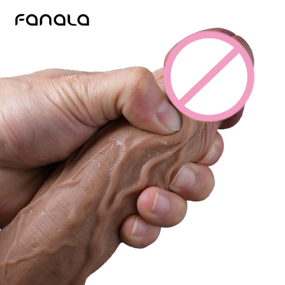Суперогромный силиконовый фаллоимитатор 8,8 дюйма с реалистичной кожей, на присоске для пениса, фаллоимитаторы, секс игрушка для женщин, не вибрационная Анальная пробка