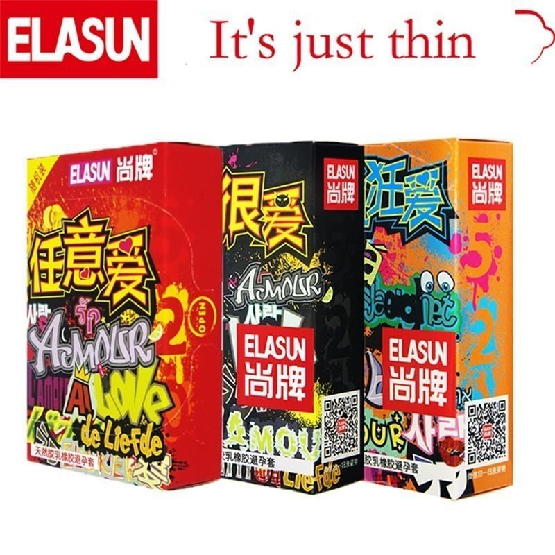 Ультратонкие презервативы ELASUN 32 шт., женские презервативы с надписью «Crazy Love», презервативы из натурального прозрачного латекса, интимные товары для мужчин