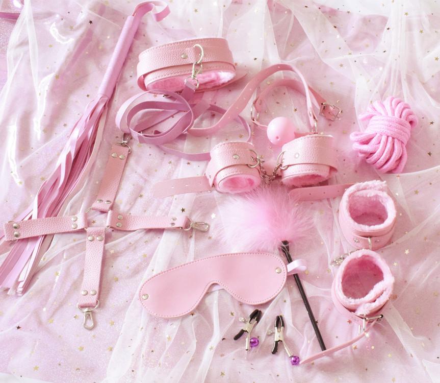 Эротические игрушки для взрослых, набор для бондажа, Анальная пробка, наручники, зажимы для сосков, кляп, плетка, игрушки для пар