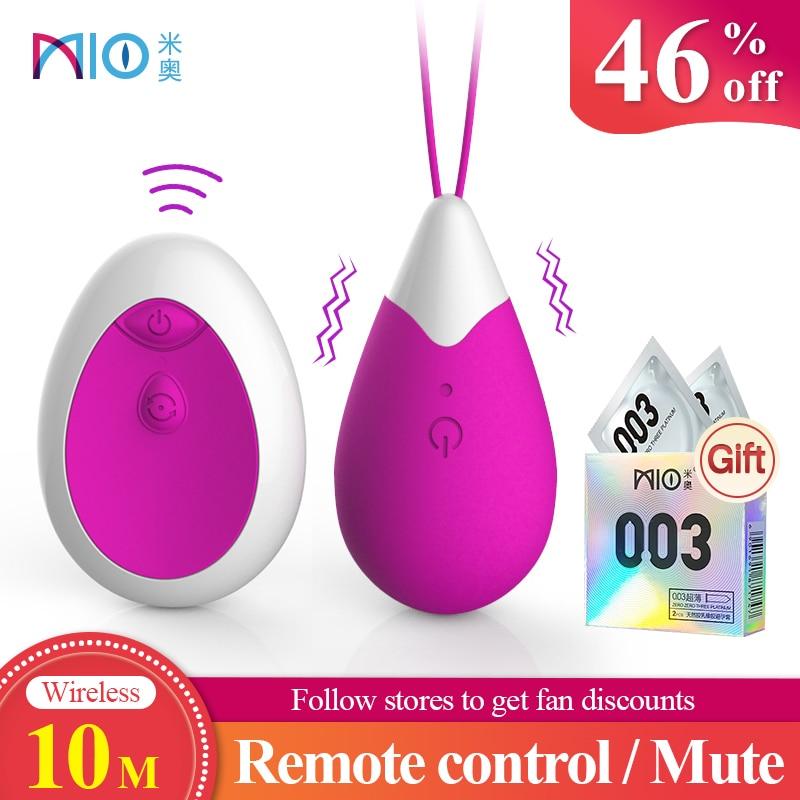 Мини вагинальный вибратор MIO, беспроводной вибратор пуля, вибрирующий 10 частот, стимуляция точки G, клитора, с дистанционным управлением, интимные игрушки для женщин