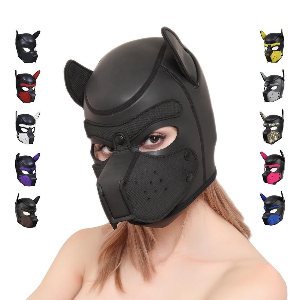 Сексуальная собака БДСМ бондаж щенок играть капюшоны раб резиновый щенок Фетиш маска взрослые игры пары SM флирт игры игрушки для эротических капюшонов