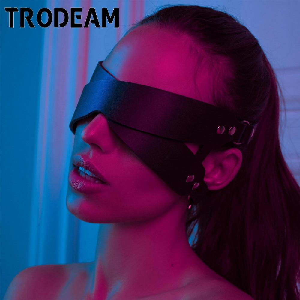 TRODEAM, женская сексуальная маска , половинные глаза, косплей, лицо, кошка, Кожаная маска , маска для косплея, маскарадный мяч , карнавальные, Необычные маски , женщина кошка, БДСМ