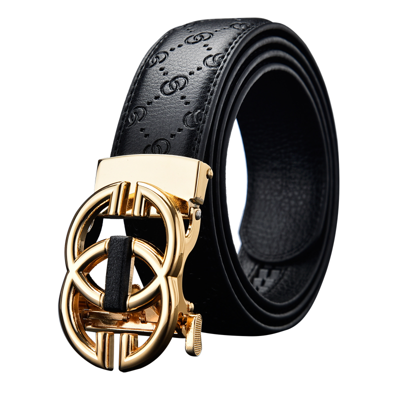 Anxianni кожаный ремень унисекс высокого качества, деловой Повседневный модный кожаный ремень, мужской ремень с металлической автоматической пряжкой