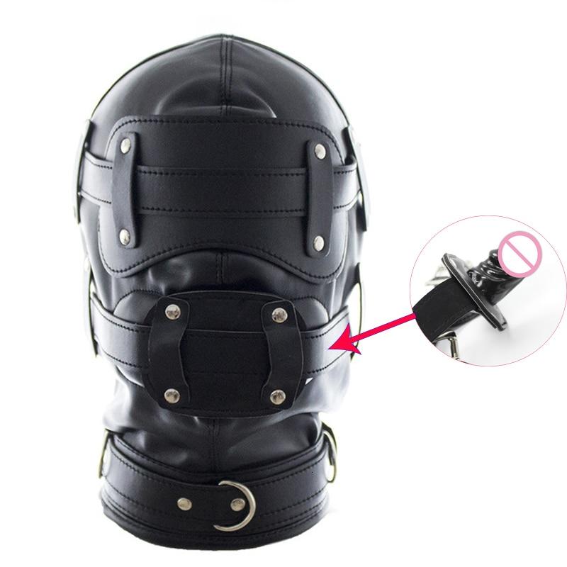 Бондаж маски головные уборы с фаллоимитатор Кляпы для рта для пениса, удерживающие средства сердце образный кляп для Для женщин взрослые игры фетиш бдсм Секс игрушки для пар