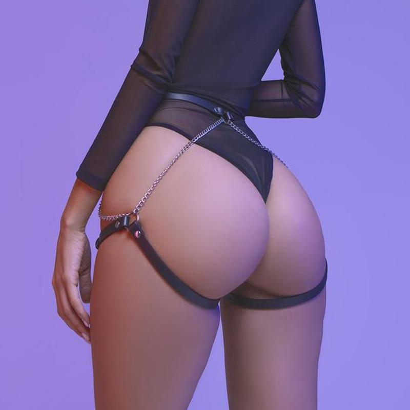 CKMORLS БДСМ кожа ног портупея костюм для панков для ускорения Секс игрушки женские чулки Связывание Готический пикантные нагрудный ремень для тела