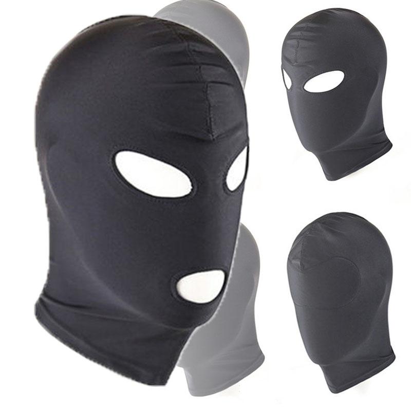 Эротическая маска из латекса с большим эластичным капюшоном, черная маска, 4 типа, дышащий головной убор, БДСМ, для взрослых, вечерние