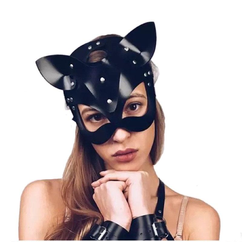 Секс игрушки для женщин, Эротическая маска, женщина кошка, полумаска, БДСМ вечерние ринка, косплей, сексуальный костюм, реквизит, латексная маска для взрослых, маски для игр