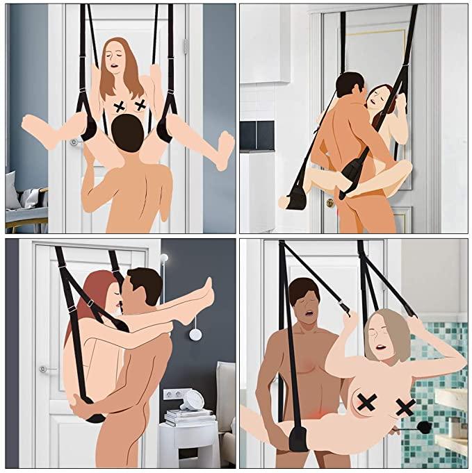 Секс игры для взрослых, набор для БДСМ бондажа, секс качели, игрушки для женщин, пар, рабы, фиксаторы, шлюха, Эротическая Сексуальная портупея, женский секс шоп