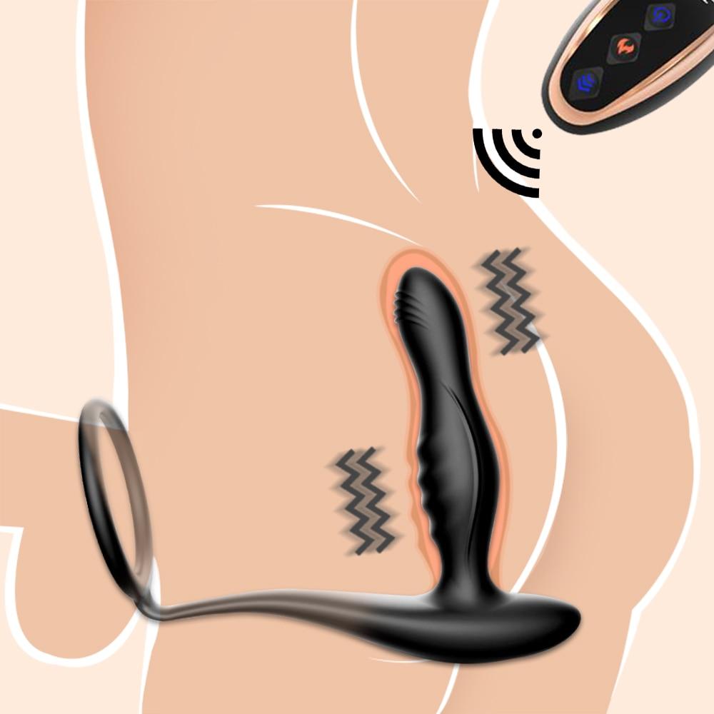Силиконовый удаленный Анальный вибратор для мужчин массажер простаты инструмент для взрослых геев секс игрушки фаллоимитатор Анальная пробка Женский мастурбатор