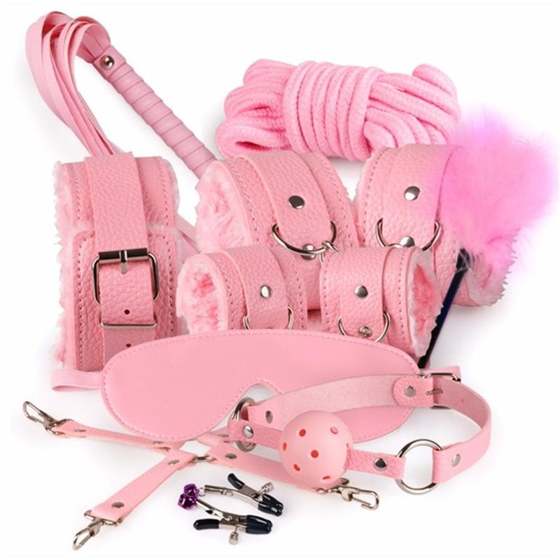SM Продукты БДСМ секс бандаж набор взрослые игры эротические аксессуары для секс маска воротник рот кляп наручники для секса игрушки для женщин мужчин