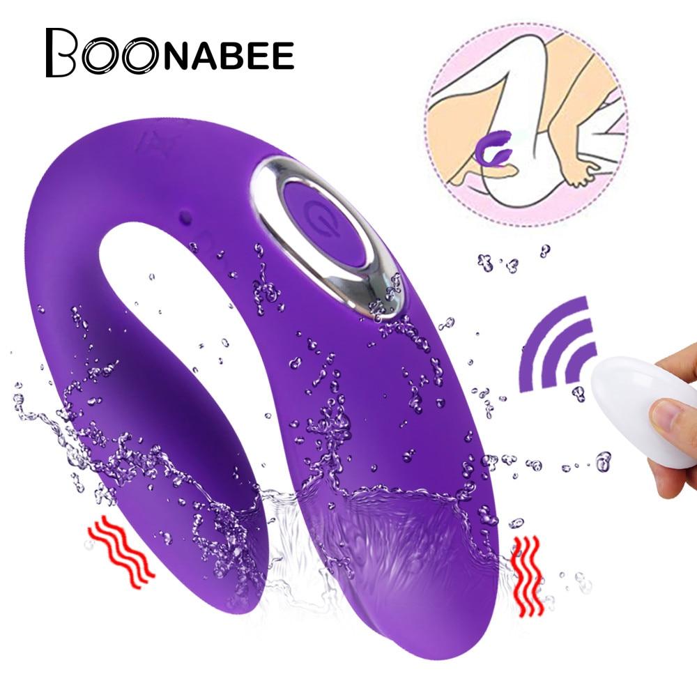Секс игрушки для пар u образный вибратор Беспроводные секс игрушки, двойные Вибраторы G Spot Клитор игрушки для стимуляции фаллоимитатор для взрослых женщин