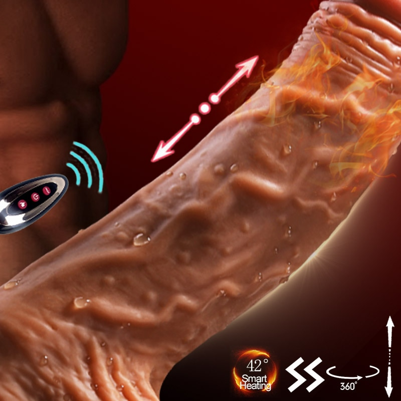 Телескопический большой фаллоимитатор вибратор нагреваемые Фаллоимитаторы Вибраторы для женщин вибрирующий реалистичный фаллоимитатор всасывание пениса чашка секс-игрушки для женщин